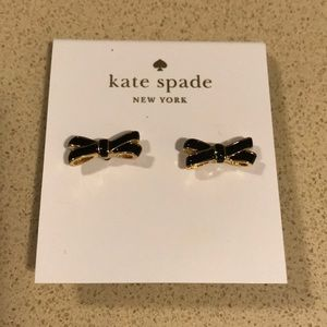 NEW Kate Spade Black Bow Studs
